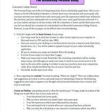 Writing Essays For Scholarships Examples Write Scholarship Essays