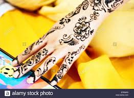 Elaborate Henna Designs Young Muslim Bride To Be Has Elaborate Henna Designs Painted