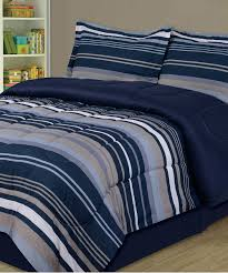 love this blue slate stripe comforter set
