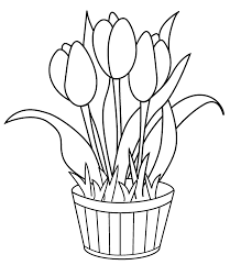 Small Picture Free Printable Tulip Coloring Pages For Kids
