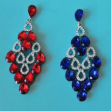think glam rhinestone chandelier earrings