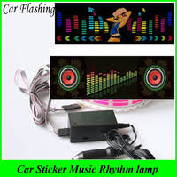 car atmosphere light dj flash charger ambient light board mini usb 3w 5v 3 colors decoration