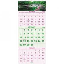 At A Glance 3 Month Calendar At A Glance Dmw50328 Scenic Design 3 Month Wall Calendar The Office