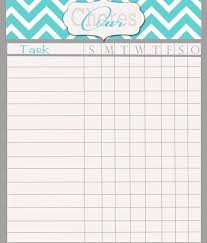 Blank Chore Chart For Adults Monthly Chore Charts Jasonkellyphoto Co