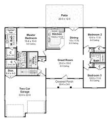 cape cod house plan with 3 bedrooms and