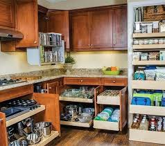 kitchen with pull out shelves and pantry a down upper cabinets cabinet tall drawers