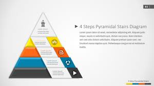 Ppt Pyramid 4 Steps Pyramidal Stairs Powerpoint Diagram