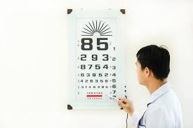 Dr Office Eye Chart Doctor Check Patient Eye Problem By Snellen Chart Photo