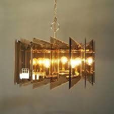 mid century chandelier mid century modern smoked ass 6 light chandelier angular mid century chandelier australia