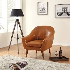 Leather Accent Chairs For Living Room Amazoncom Divano Roma Furniture Signature Collection Mid Century