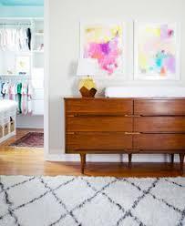 mid century modern baby furniture. girl nursery mid century modern dresser abstract wall art baby furniture e