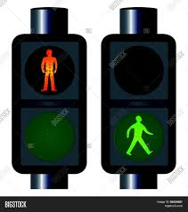 Walking Sign Light Walking Man Traffic Vector Photo Free Trial Bigstock
