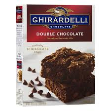 Ghirardelli Double Chocolate Brownie Mix 18 Ounce Boxes Pack Of 12