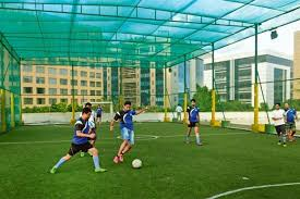 artificial football turf. The Rooftop Turf At Arena. Photographs By Abhijit Bhatlekar/Mint Artificial Football
