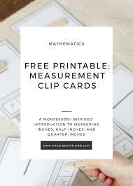 Quarter Cards Free Printable Measurement Clip Cards For Kids
