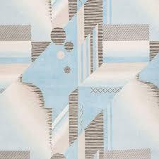 modern art deco aqua hand knotted tibetan contemporary geometric rug wool