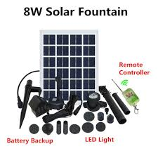 Solar Water Pump Kit With Led Lights Amazon Com Solar Fountain Water Pump Kit With Battery