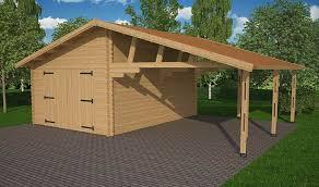 Carport Et Garage En Bois Avec Toit En Shingle
