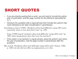 Apa Format Quotes Amazing Quote Apa Format Adorable Quoting A Quote In An Essay Apa