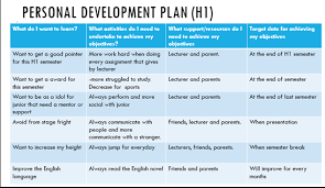 Personal Professional Development Plan Personal Development Plan