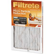Ac Filters Orlando Filtrete Micro Particle Reduction Air And Furnace Filter 800 Mpr
