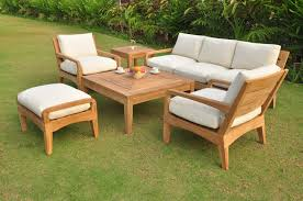 luxurious 6 piece teak sofa set 3 seater sofa 2 lounge chairs 1