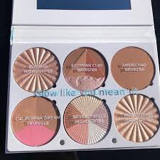 ofra cosmetics on the glow highlighting palette