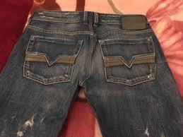 Diesel Jeans Men Size Chart Mens Diesel Zatiny Distressed Blue Medium Wash Size 31x32