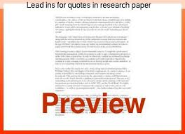 Lead Ins For Quotes Lead ins for quotes in research paper Custom paper Academic Service 36