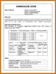 Nice B Com Resume Format Illustration Documentation Template