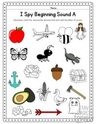 This page though has many beginning sound worksheets for kindergarten or preschool! I Spy Beginning Sounds Activity Free Printable For Speech And Apraxia