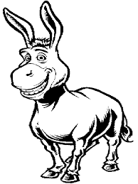 Small Picture Donkey coloring page