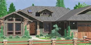 house front color elevation view for 10163 one story house plans ranch house plans