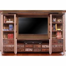 painted entertainment center wall unit