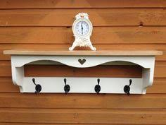 Shabby Chic Coat Rack Shabby Chic Hall Coat Rack Hat Shelf Antique White Solid Timber 83