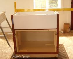 Farmhouse Sink Cabinet Maple Grove How To Build A Support Structure For A Farm House Sink