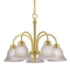 project source fallsbrook 5 light polished brass chandelier