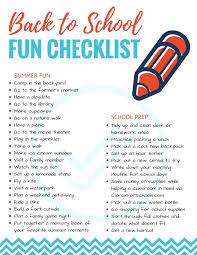 Checklist For School Back To School Fun Checklist Bitz Giggles