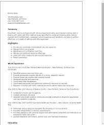 Resume Templates: Home Care Coordinator