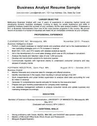 business admin resume resume sample business business analyst resume sample download