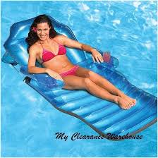inflatable swimming pool floating recliner lounge chaise chair luxury ride on