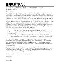 Best Event Specialist Cover Letter Examples Livecareer