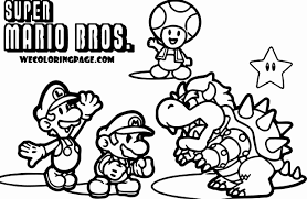 Coloring Pages Super Mario Brosoring Pages Improved Aso Unknown