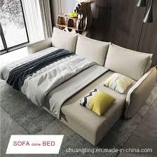 modern folding fabric sofa bed storage
