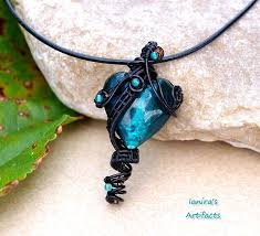 wire wrapped recycled glass pendant. Turquoise Wire Wrapped Glass Heart Pendant By Ianirasartifacts On Rh Deviantart Com Beach Pendants Wrapping Sea Recycled R
