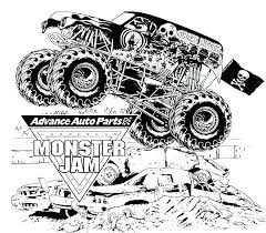 Printable Monster Truck Coloring Pages Big Trucks Coloring Pages