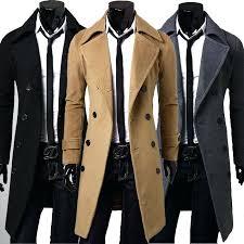 winter coat for mens new trench coat men jacket overcoat slim fit long coat men fashion