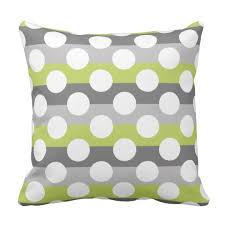 green and gray pillows.  And Lime Green Gray White Modern Polka Dot Pattern Throw Pillow Throughout And Pillows P