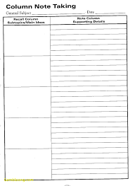 notes sheet template new cornell notes template pdf best templates