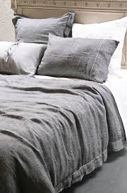this beautifully rustic enzyme washed mottled charcoal and pale grey duvet cover set is